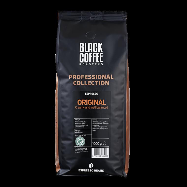 Black Coffee Roasters Original Rainforest Alliance Espresso - 1 kg hele kaffebønner
