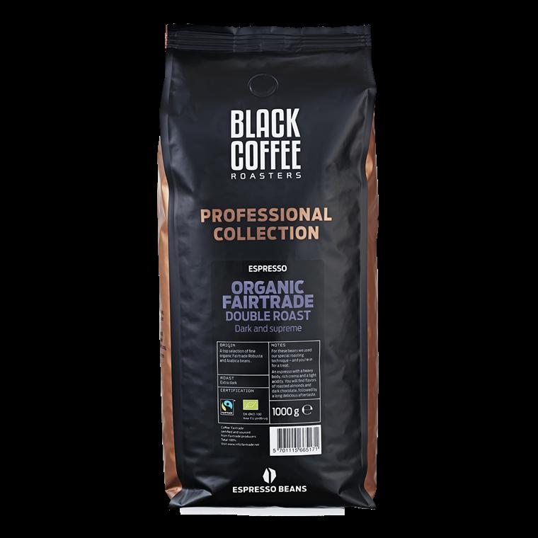 Black Coffee Roasters Double Roast Organic Fairtrade - 1 kg hele bønner