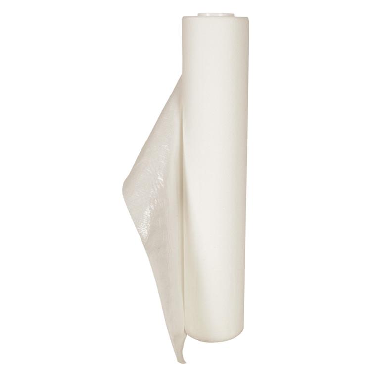 Lejepapir, neutral, 65m x 50cm, Ø9,5cm, hvid, med PE-belægning, perforeret