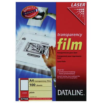Overhead papir - Dataline 57166 til sort/hvid laserprintere A4 100 mic - 100 ark
