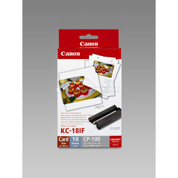 Canon - KC-18IF label sheet for business cards - 18 kort