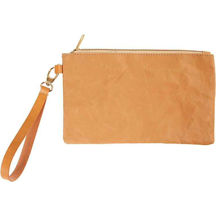 Kuverttaske af læderpapir - 21 x 18 cm - 1 stk