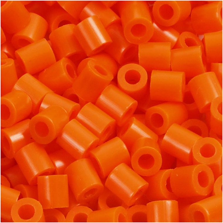 Rørperler str. medium 5 x 5 mm - hulstørrelse 2,5 mm - klar orange (13) - 1100 stk.