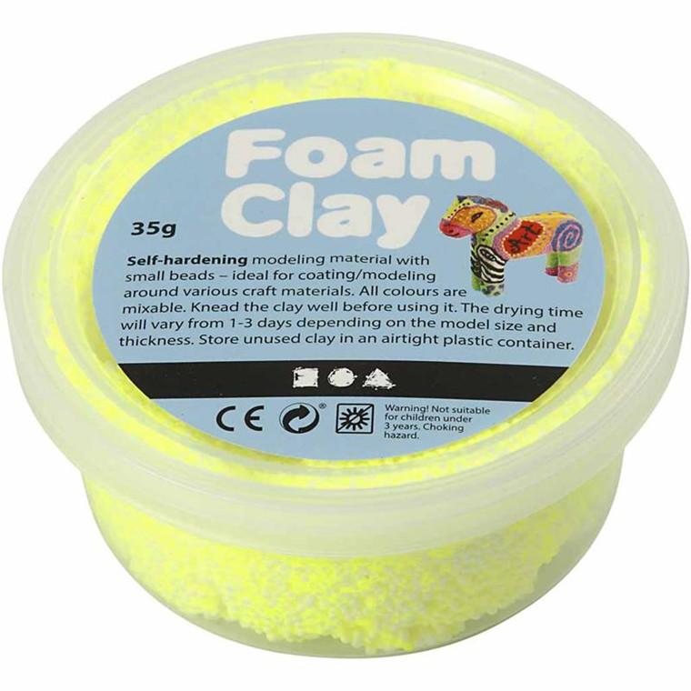 Foam Clay® gul neon - 35 gram