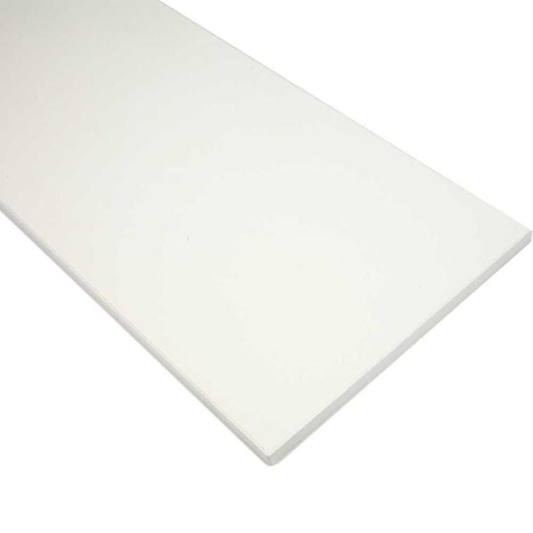 Melaminhylde, L: 398 mm, dybde 200 mm, 1stk., tykkelse 16 mm