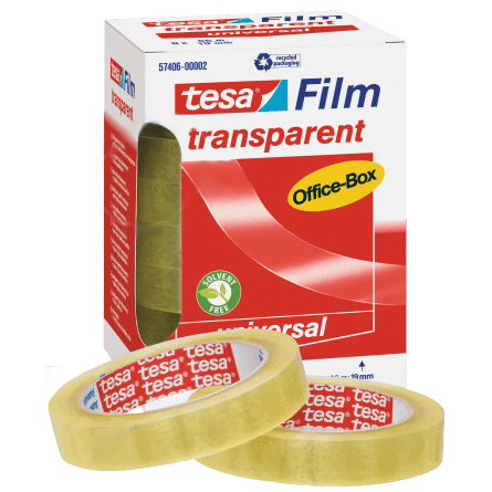 Kontortape transparent - 15 mm x 66 m