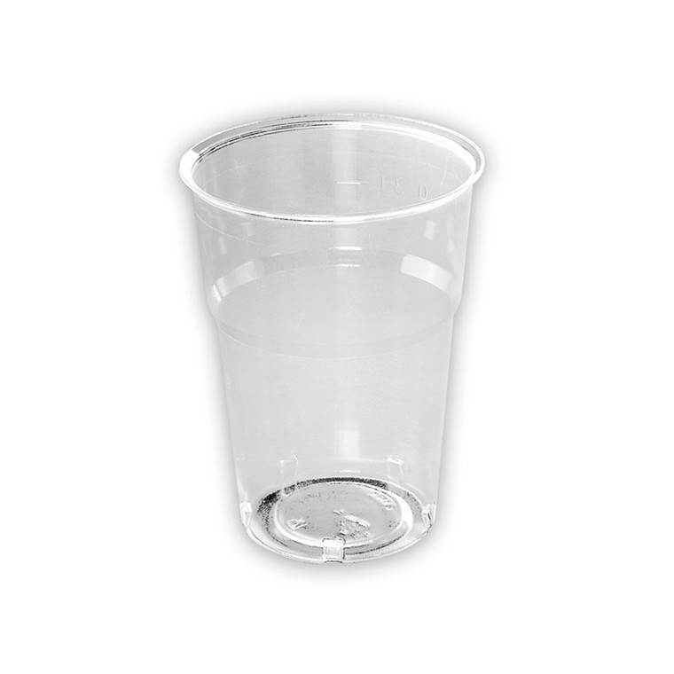 Plastikglas krystal 30 cl - 50 stk. i en pose