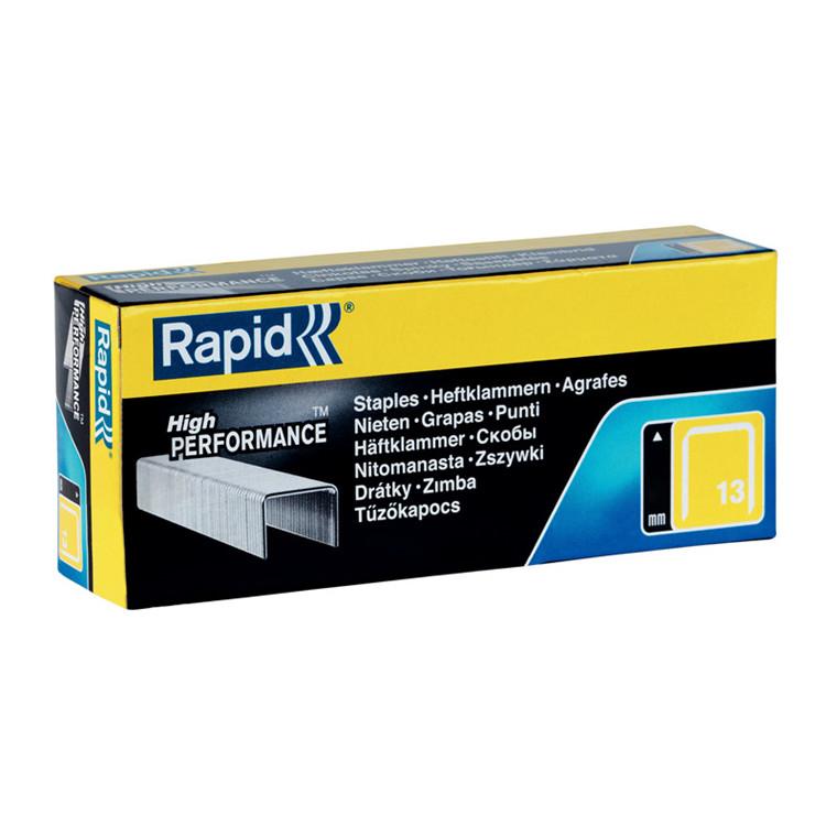 Hæfteklammer til hæftepistol - Rapid 13/4 mm 5000 stk i æske