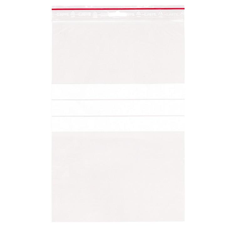Lynlåspose med skrivefelt 200 x 300 mm med eurohul GRIPPIE T-74 - 1000 stk i pakke