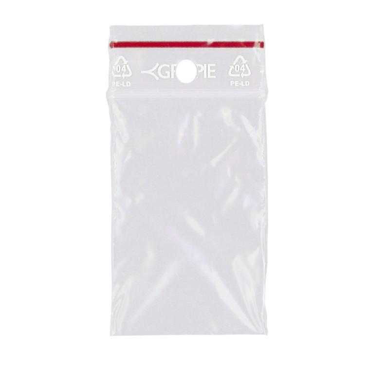 Lynlåspose uden skrivefelt 40 x 60 mm med 5 mm hul GRIPPIE T-03 - 1000 stk i pakke
