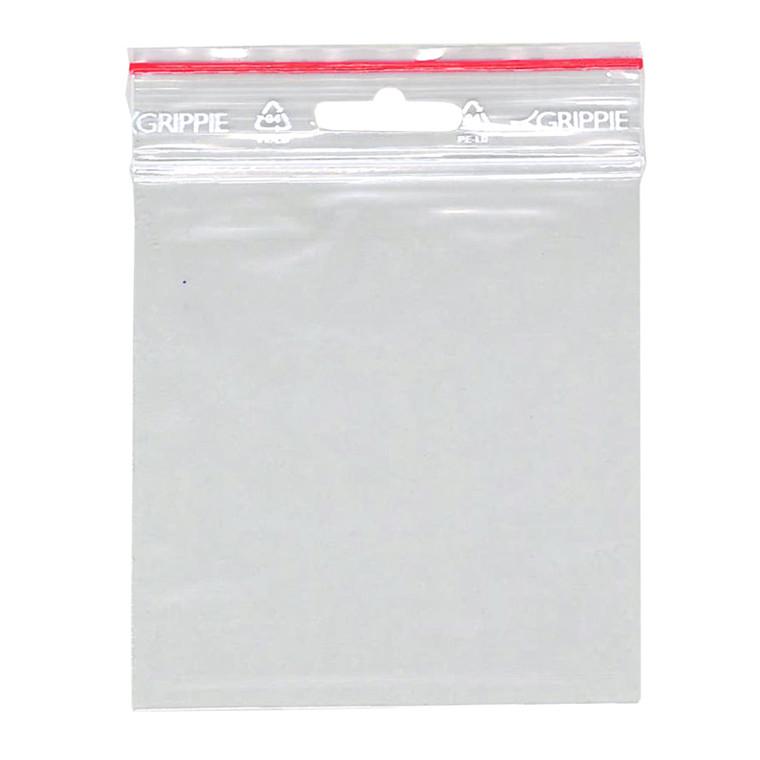 Lynlåspose 100 x 100 mm uden skrivefelt GRIPPIE T-15 med eurohul - 1000 stk i pakke