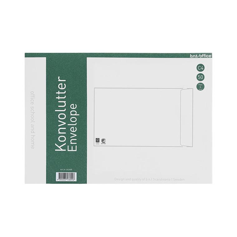 Kuverter C4P 80g Peel & Seal 229x324mm 50stk/pak