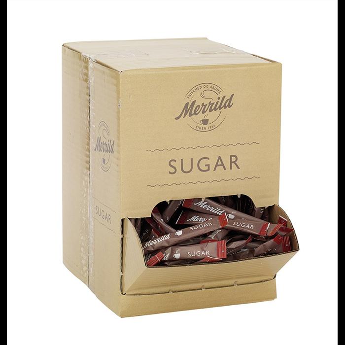 Sukker sticks Merrild 4 gram - 500 stk.