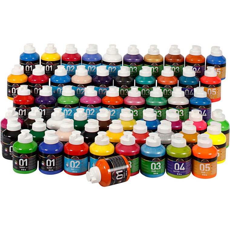 Akrylmaling A-Color , 57x500ml
