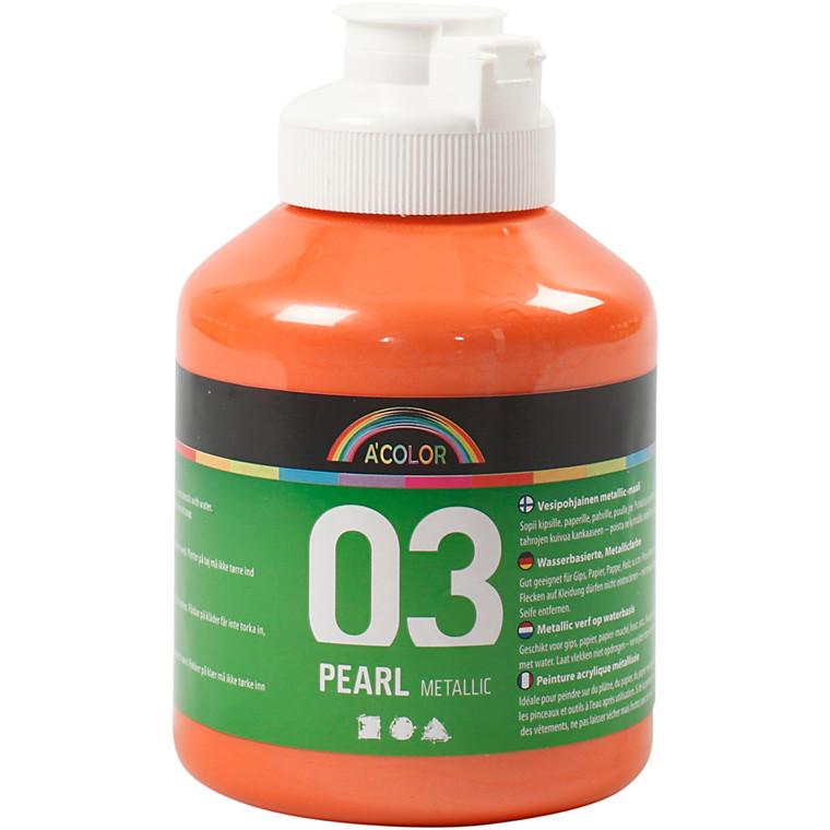 Akrylmaling A-Color, orange, 03 - metallic, 500ml