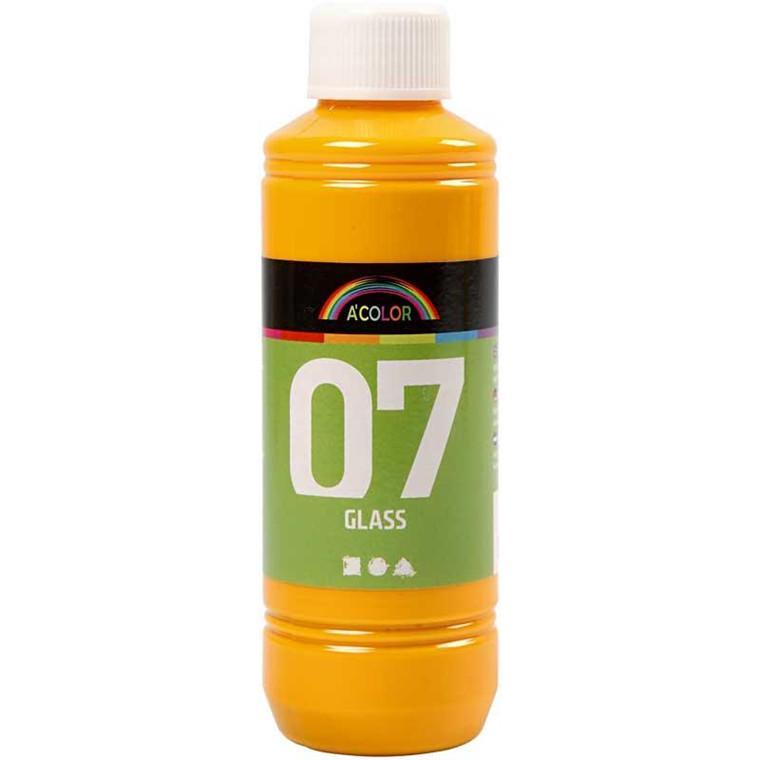 A-Color Glass, gul, 250ml