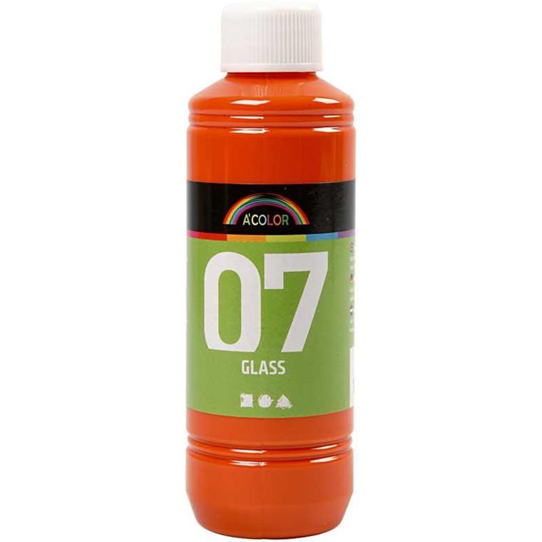 A-Color Glass, orange, 250ml