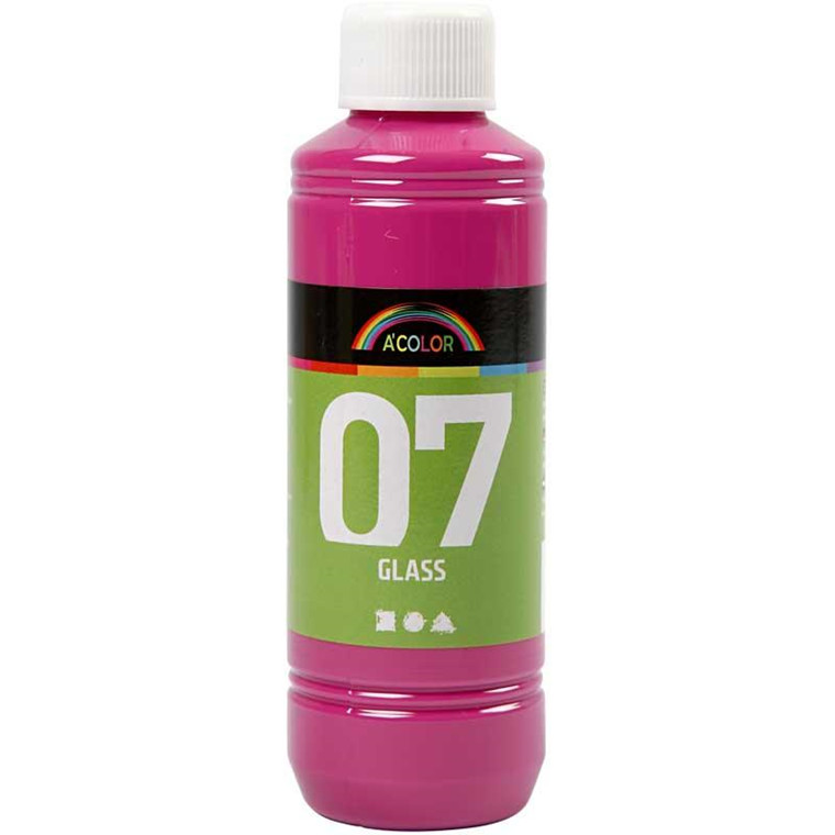 A-Color Glass, pink, 250ml