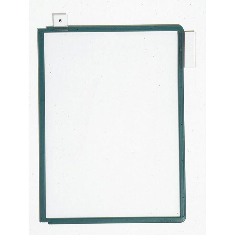 A4 registerlomme - Durable Sherpa med grøn kant - 1 stk