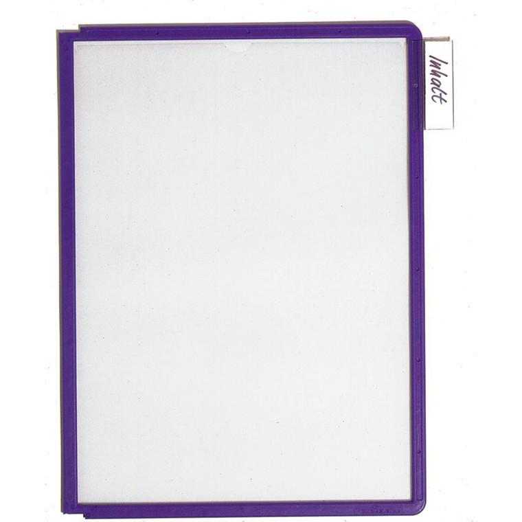 A4 registerlomme - Durable Sherpa med violet kant - 1 stk