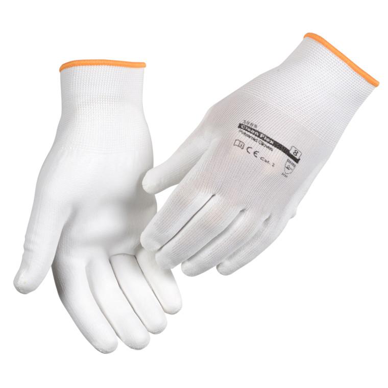 Abena Clean Flex Polyamidhandsker Hvid - Størrelse 8