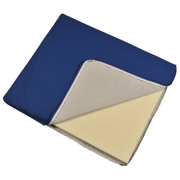 Abena Comfort, Puslemadras med Techmaflex betræk, blå, 74x88x3cm