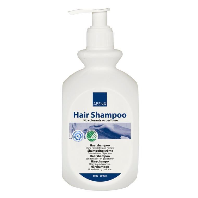 Abena Hair Shampoo - Hårshampoo uden farve & parfume - 500 ml