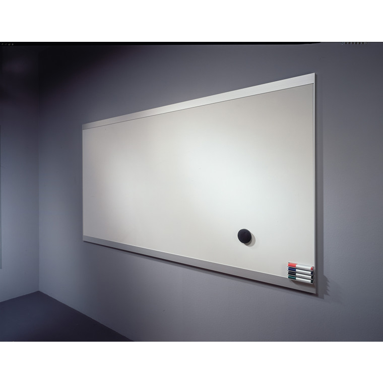 Abstracta whiteboardtavle - hvid 150 x 130,5 cm med ramme i aluminium
