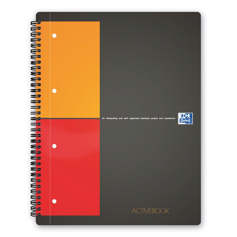 Oxford Activebook A4+ Notesbog - Kvadreret ark - 80 sider