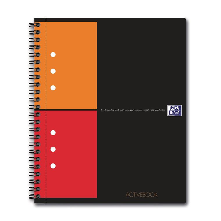 Notesbog A5+ Activebook Oxford - Kvadreret ark - 80 sider
