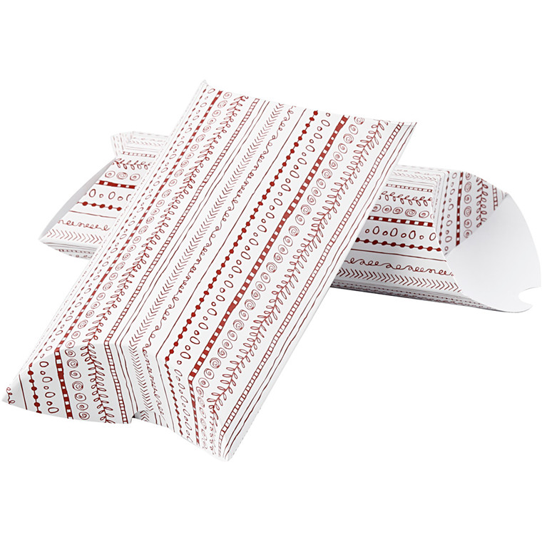 Vivi Gade Æske 300 gram doodles rød str. 23,9 x 15 x 6 cm -  3 stk