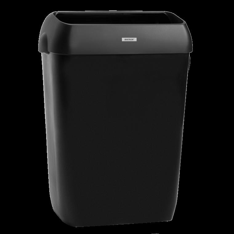 Katrin 92285 Waste Bin 50 Liter - Sort skraldespand med låg