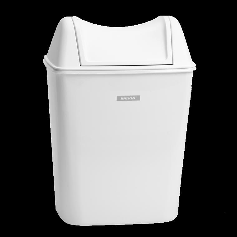 Katrin 91851 Lady Hygiene Bin 8 liter - Hvid affaldskurv til hygiejne artikler
