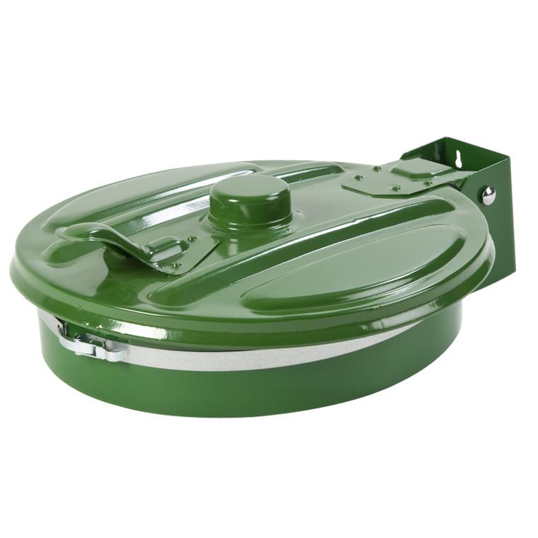 Affaldspose holder, med låg og sækkeholder, klar til vægmontering, grøn, 110 l