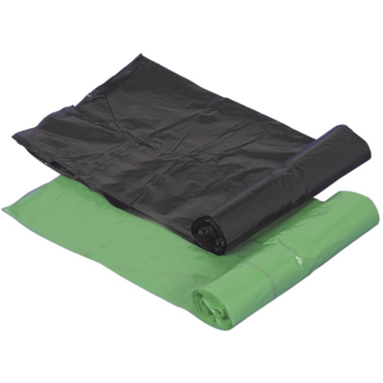 Affaldspose, LDPE, grøn/sort, 20 my, 45x52 cm, 20 l,