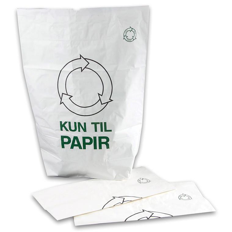 Hvide Affaldssække Til Papir 700 x 950 x 250 mm - 1-lags let opløselig - 1 stk
