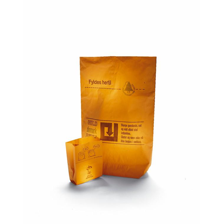 Affaldssække papir 70 x 95 x 25 cm - 2-lags med indvendig plastik - 1 stk