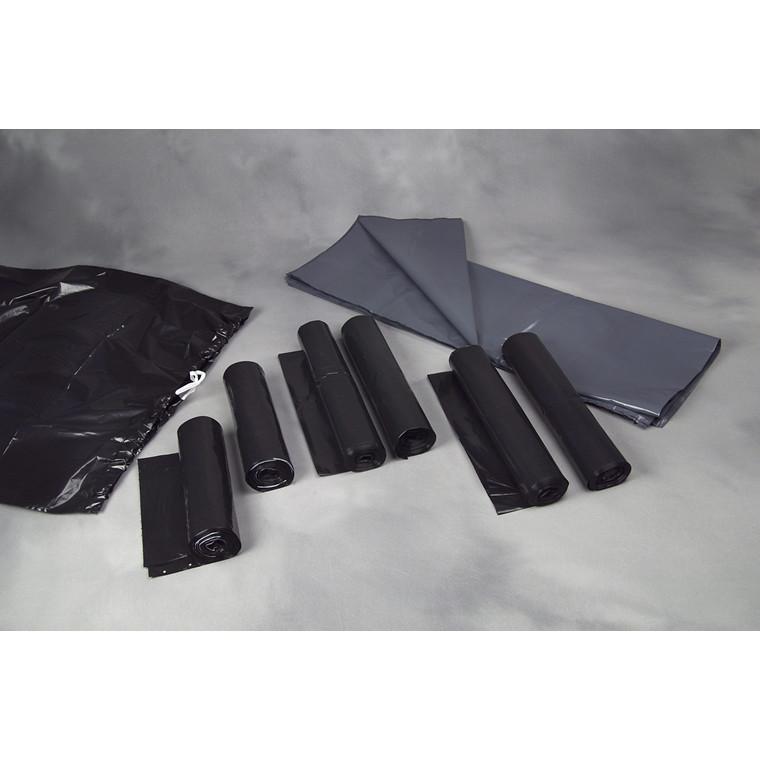 Affaldssække plastik grå 70my 880x1100mm løse 100stk/kar