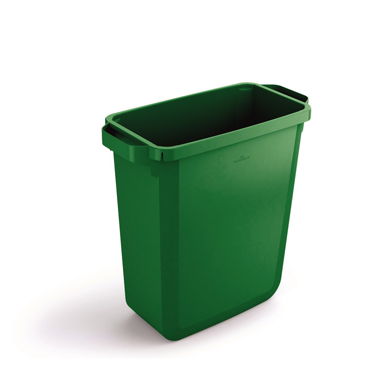 Durabin 60 Grøn Skraldespand 60 liter - Firkantet spand