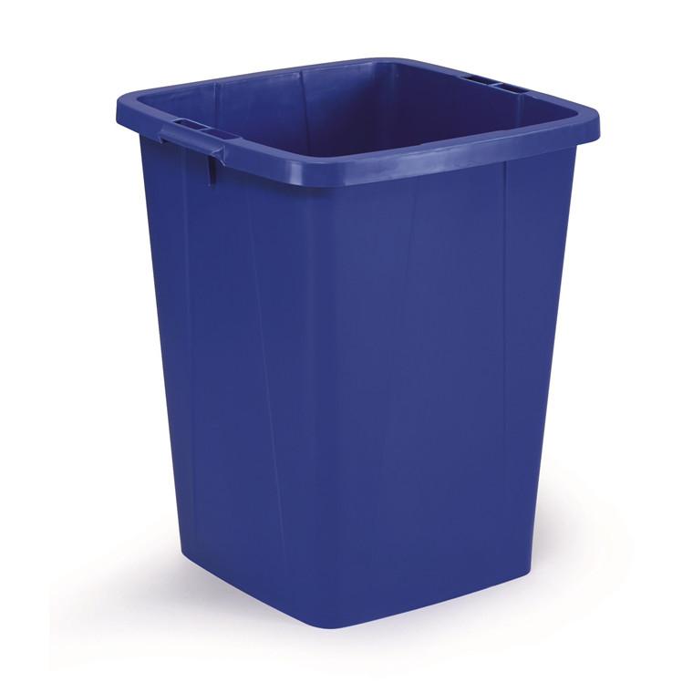 Durabin 90 Blå Affaldsspand 90 liter - Firkantet spand