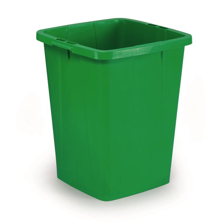 Durabin 90 Affaldsspand 90 liter - Firkantet grøn