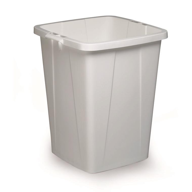 Durabin 90 - Hvid firkantet affaldsspand - 90 liter
