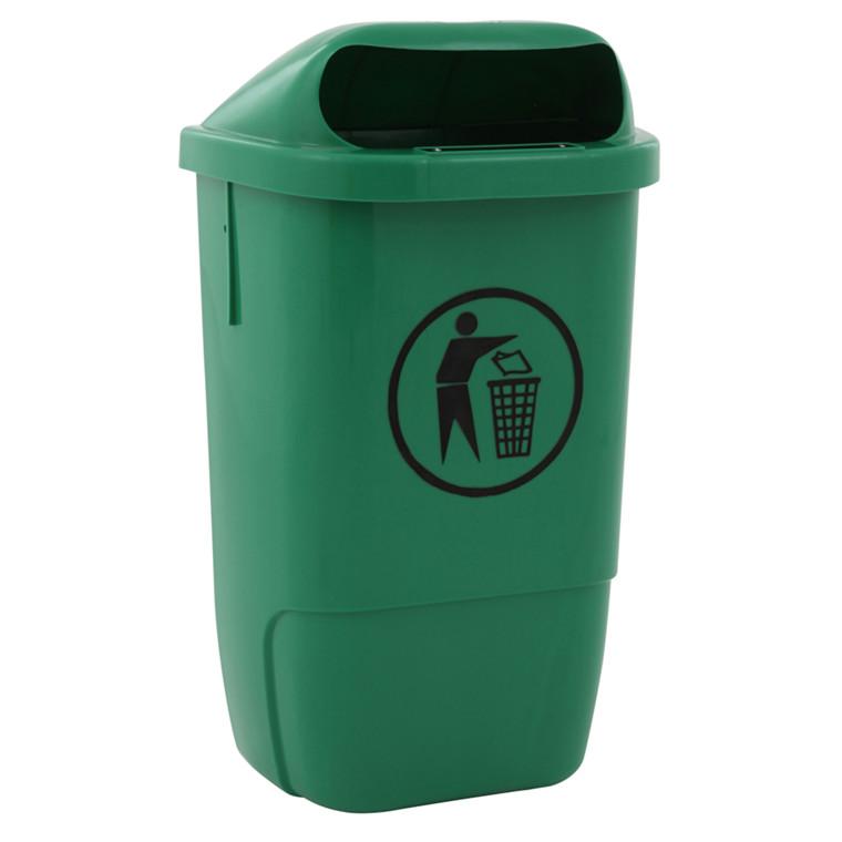 Affaldsspand, grøn, 50 l