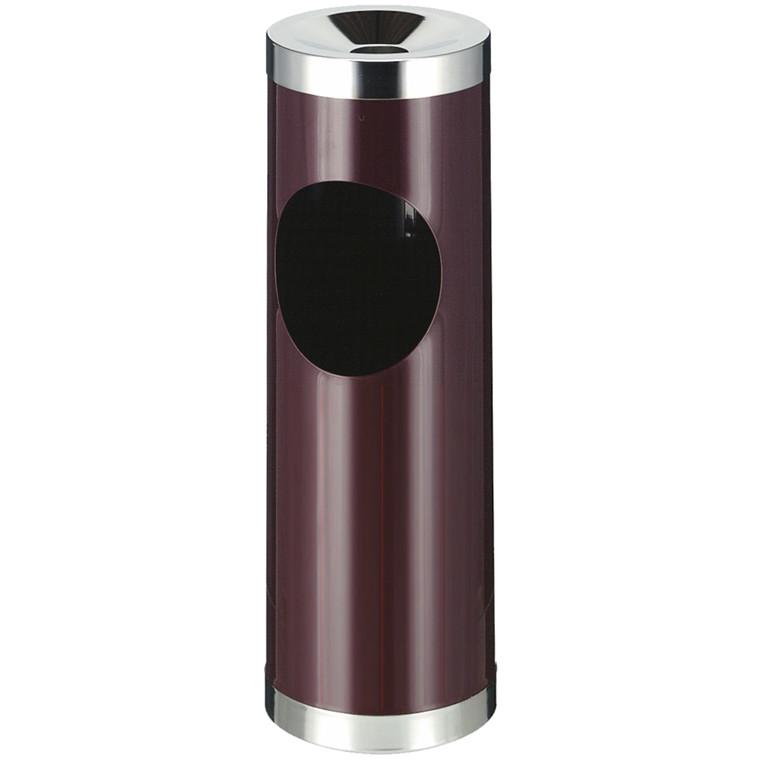 Affaldsspand, robust, med askebæger, Bourgogne rød,