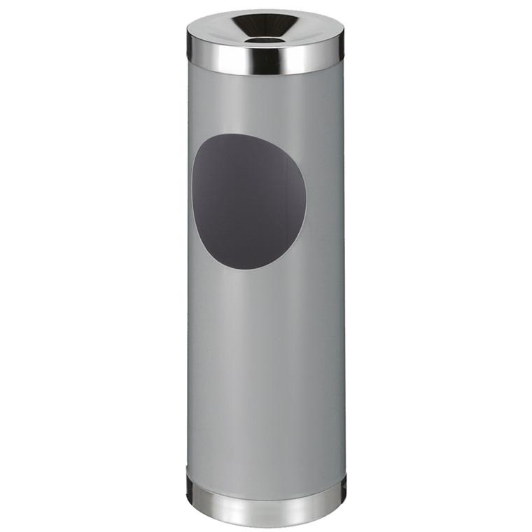 Affaldsspand, robust, med askebæger, grå,
