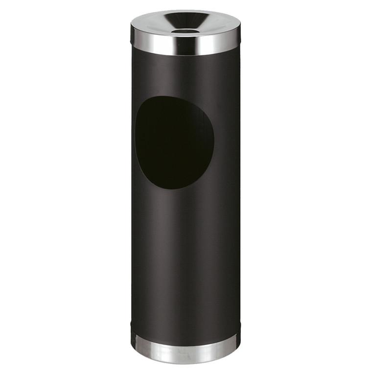 Affaldsspand, robust, med askebæger, sort,