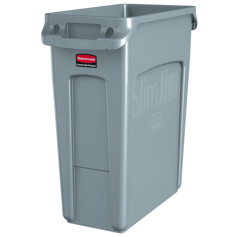 Affaldsspand, Rubbermaid, til kraftig belastning, grå, 60 l