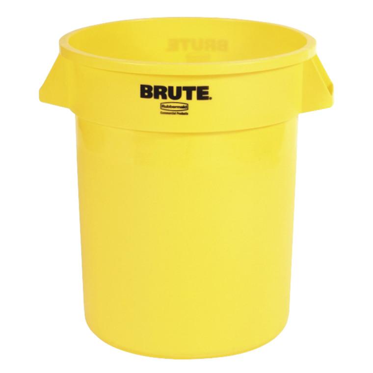 Affaldsspand, Rubbermaid, til kraftig belastning, gul, 76 l
