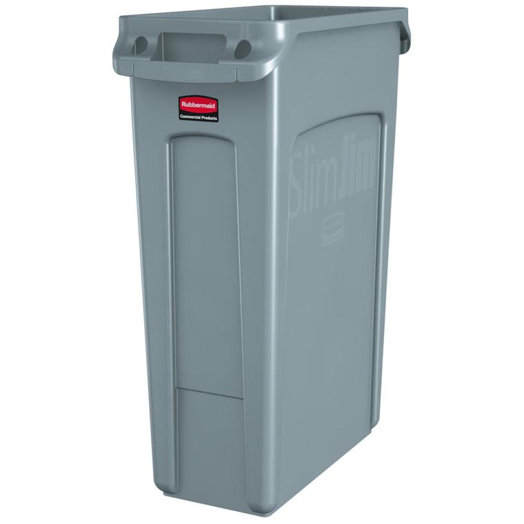 Affaldsspand, Rubbermaid, uden låg, til kraftig belastning, grå, 87 l