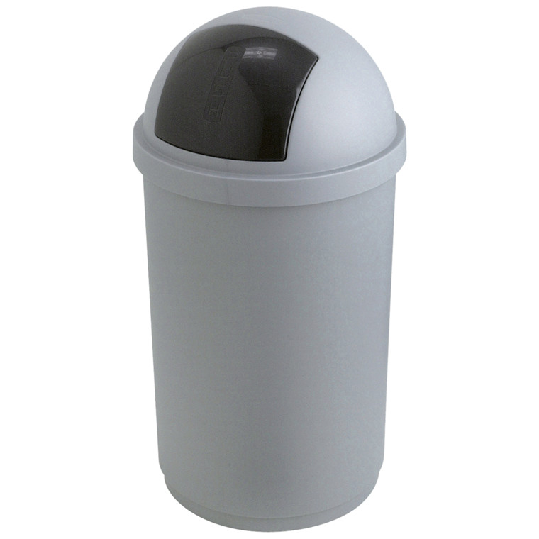 Affaldsspand, rund, grå og antracit, 45 l